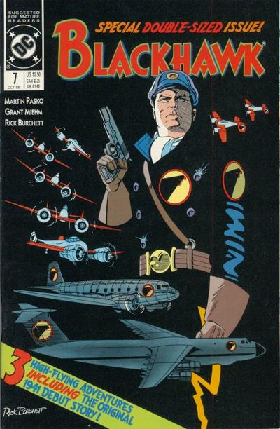 Cover for Blackhawk (DC, 1989 series) #7