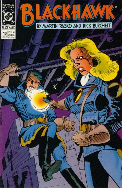 Cover for Blackhawk (DC, 1989 series) #10