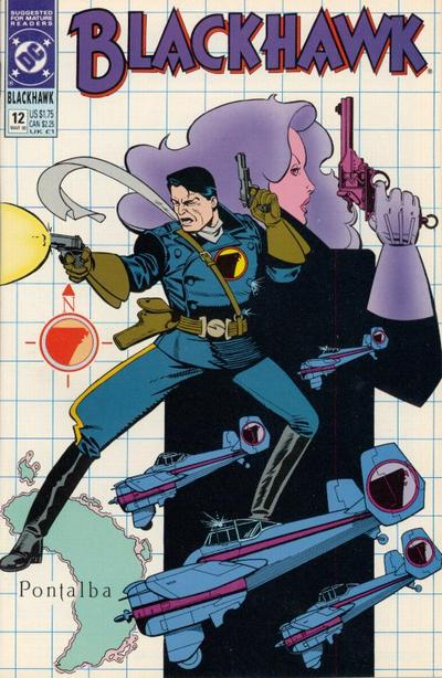 Cover for Blackhawk (DC, 1989 series) #12