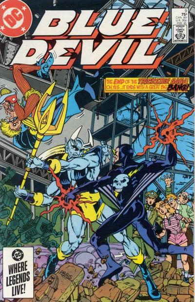 Cover for Blue Devil (DC, 1984 series) #9 [Direct Edition]