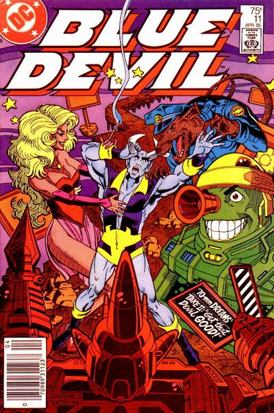 Cover for Blue Devil (DC, 1984 series) #11 [Newsstand Edition]