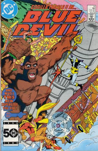 Cover for Blue Devil (DC, 1984 series) #15 [Newsstand]