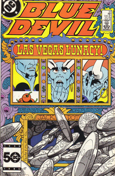 Cover for Blue Devil (DC, 1984 series) #22 [Direct Sales]