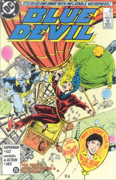 Cover for Blue Devil (DC, 1984 series) #28 [Canadian Newsstand]