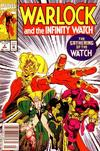 Cover Thumbnail for Warlock and the Infinity Watch (1992 series) #2 [Newsstand Edition]