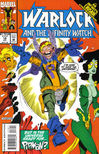Cover Thumbnail for Warlock and the Infinity Watch (Marvel, 1992 series) #18 [Direct Edition]