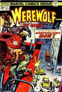 Cover Thumbnail for Werewolf by Night (Marvel, 1972 series) #21