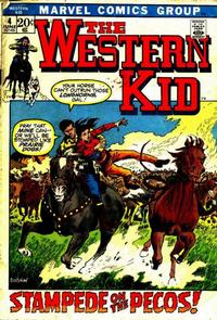 Cover Thumbnail for The Western Kid (Marvel, 1971 series) #4