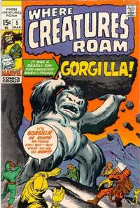 Cover for Where Creatures Roam (Marvel, 1970 series) #5