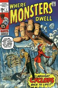 Cover Thumbnail for Where Monsters Dwell (Marvel, 1970 series) #1