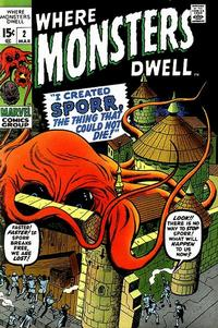 Cover Thumbnail for Where Monsters Dwell (Marvel, 1970 series) #2