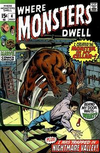 Cover Thumbnail for Where Monsters Dwell (Marvel, 1970 series) #4