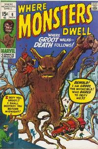 Cover Thumbnail for Where Monsters Dwell (Marvel, 1970 series) #6 [Regular Edition]