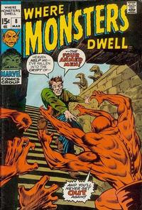 Cover Thumbnail for Where Monsters Dwell (Marvel, 1970 series) #8