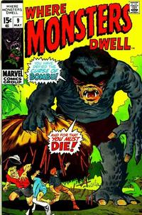 Cover Thumbnail for Where Monsters Dwell (Marvel, 1970 series) #9