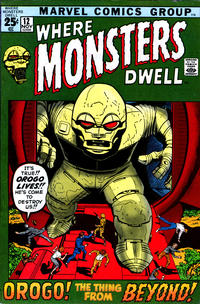 Cover Thumbnail for Where Monsters Dwell (Marvel, 1970 series) #12