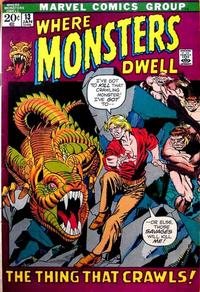 Cover Thumbnail for Where Monsters Dwell (Marvel, 1970 series) #13