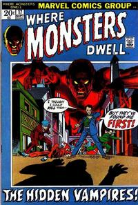 Cover for Where Monsters Dwell (Marvel, 1970 series) #17