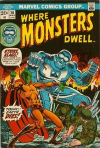 Cover Thumbnail for Where Monsters Dwell (Marvel, 1970 series) #20