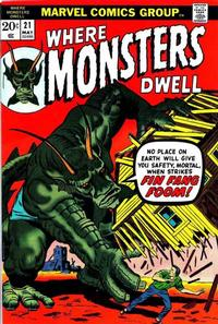 Cover Thumbnail for Where Monsters Dwell (Marvel, 1970 series) #21