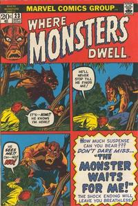 Cover Thumbnail for Where Monsters Dwell (Marvel, 1970 series) #23