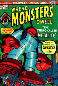Cover Thumbnail for Where Monsters Dwell (Marvel, 1970 series) #26