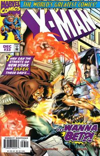Cover Thumbnail for X-Man (Marvel, 1995 series) #33 [Direct Edition]
