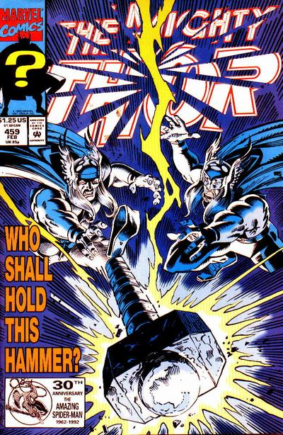 Cover for Thor (Marvel, 1966 series) #459 [Newsstand]