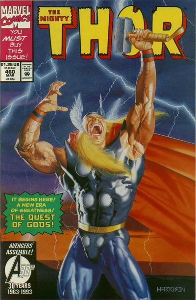 Cover for Thor (Marvel, 1966 series) #460 [Direct Edition]