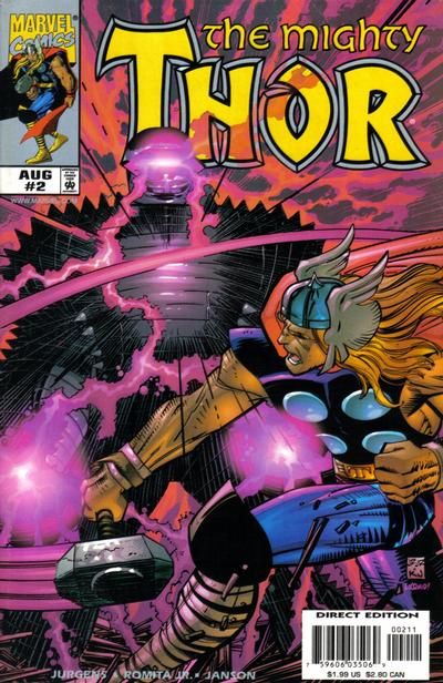 Cover for Thor (Marvel, 1998 series) #2 [Cover A]