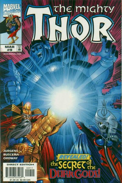 Cover for Thor (Marvel, 1998 series) #9
