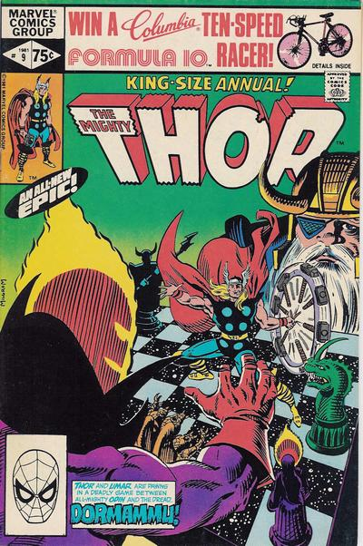 Cover for Thor Annual (Marvel, 1966 series) #9 [Newsstand]