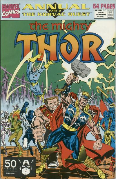 Cover for Thor Annual (Marvel, 1966 series) #16 [Newsstand]
