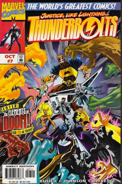 Cover for Thunderbolts (Marvel, 1997 series) #7