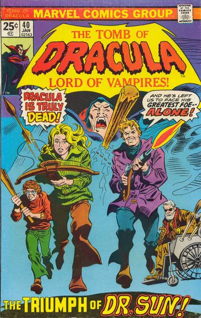 Cover for Tomb of Dracula (Marvel, 1972 series) #40