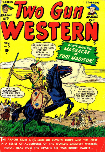 Cover for Two Gun Western (Marvel, 1950 series) #5
