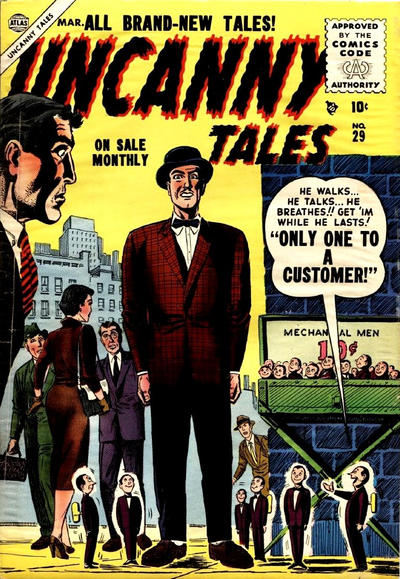 Cover for Uncanny Tales (Marvel, 1952 series) #29