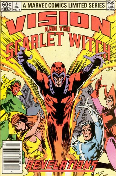 Cover for The Vision and the Scarlet Witch (Marvel, 1982 series) #4 [Direct Edition]