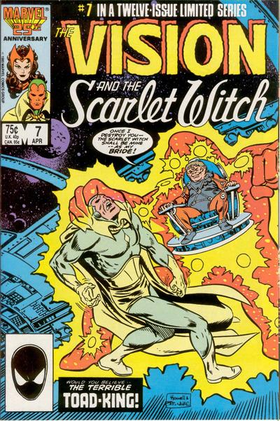 Cover for The Vision and the Scarlet Witch (Marvel, 1985 series) #7 [Direct Edition]