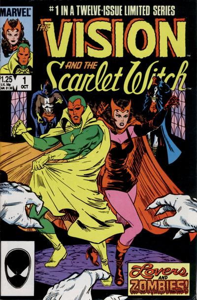 Cover for The Vision and the Scarlet Witch (Marvel, 1985 series) #1 [Direct Edition]