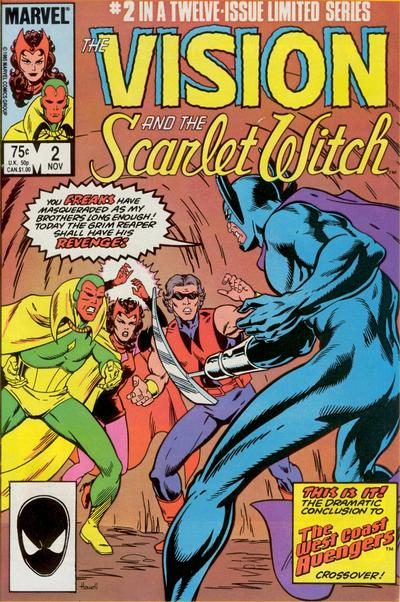 Cover for The Vision and the Scarlet Witch (Marvel, 1985 series) #2 [Direct Edition]