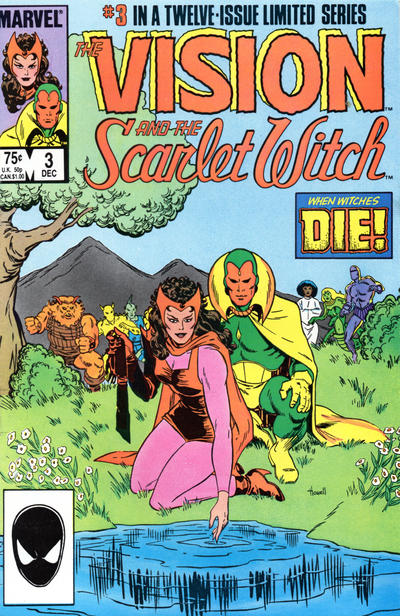Cover for The Vision and the Scarlet Witch (Marvel, 1985 series) #3 [Direct Edition]