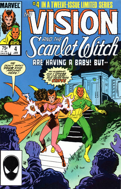Cover for The Vision and the Scarlet Witch (Marvel, 1985 series) #4 [Newsstand Edition]