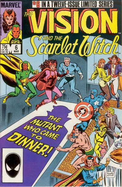 Cover for The Vision and the Scarlet Witch (Marvel, 1985 series) #6 [Direct Edition]