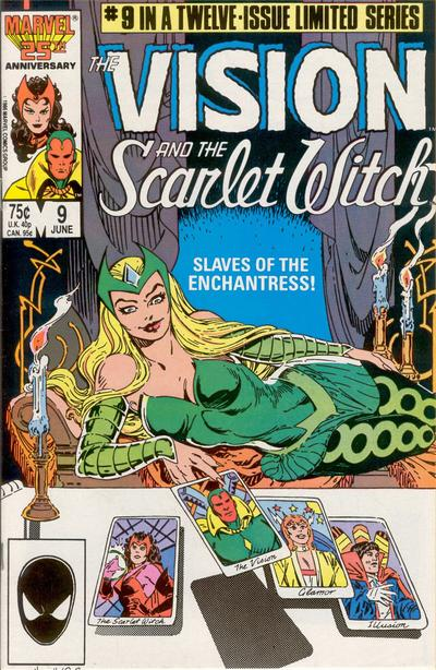 Cover for The Vision and the Scarlet Witch (Marvel, 1985 series) #9 [Direct Edition]
