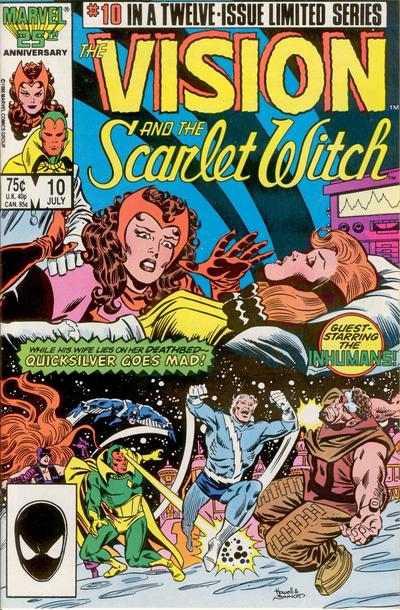 Cover for The Vision and the Scarlet Witch (Marvel, 1985 series) #10 [Direct Edition]