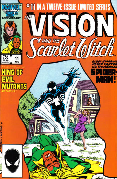 Cover for The Vision and the Scarlet Witch (Marvel, 1985 series) #11 [Direct Edition]
