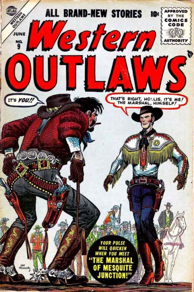 Cover for Western Outlaws (Marvel, 1954 series) #9