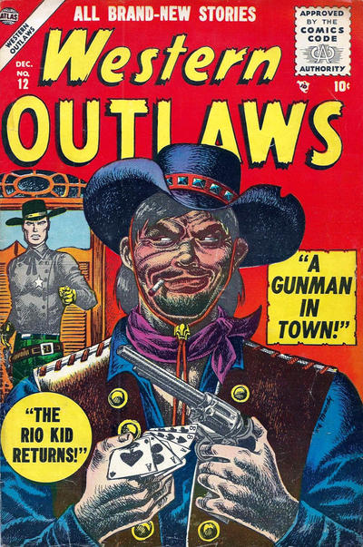 Cover for Western Outlaws (Marvel, 1954 series) #12