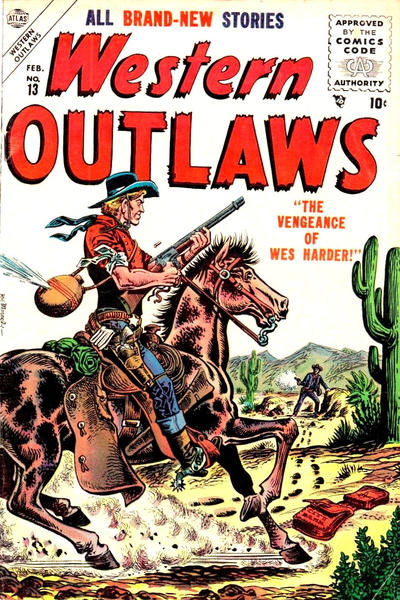 Cover for Western Outlaws (Marvel, 1954 series) #13